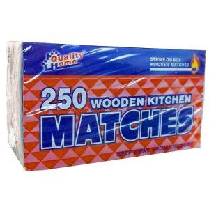 Kitchen Matches 250ct Wooden
