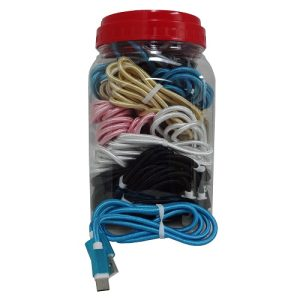 USB Charging Cable Asst Clrs In Jar