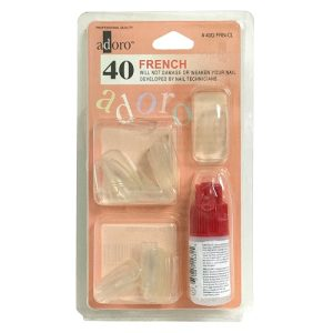 Adoro Nail W-Glue French Clear 40pc