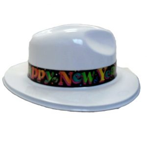 Unique New Years Gangster Hat White