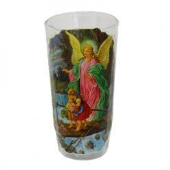 Candles Crystal Angel De La Guarda White
