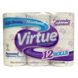 Virtue Bath Tissue 12pk Lavender 225ct
