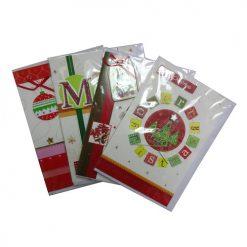 X-Mas Cards 3D Hand Made Asst English