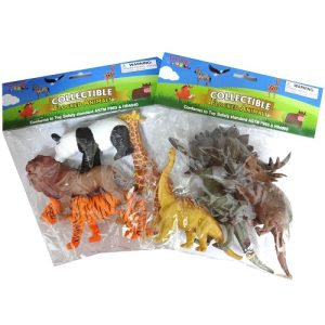 Toy Flocked Animals 4pc