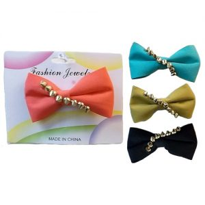 ***Bow Hair Clips Asst Clrs