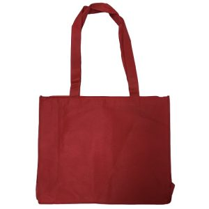 Red Woven Shopping Bag 20X16 W-Zipper