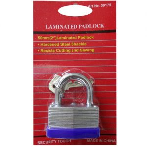 Padlock 50mm W-Keys Laminated