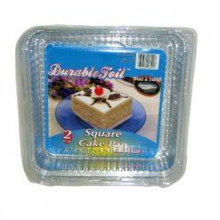 D. Foil Square Cake Pan W-Lid 2pk