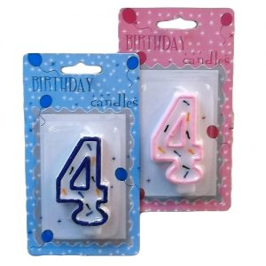 Numeric Birthday Candle #4