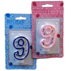 Numeric Birthday Candle #9