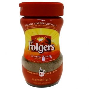 Folgers Instant Coffee 3oz Reg