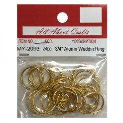 ***Aluminum Wedding Ring  24pc