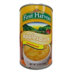 First Harvest Applesauce 15oz Swtnd