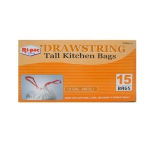 Ri-Pac Drawstring Tall Kitchen Bags 13gl
