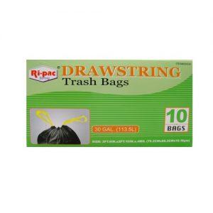 Ri-Pac Drawstring Trash Bags 10ct 30g