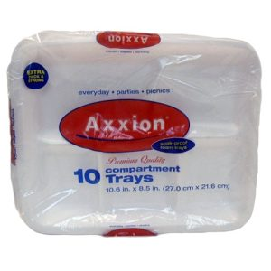 Axxion Foam Tray 5 Comp 10ct