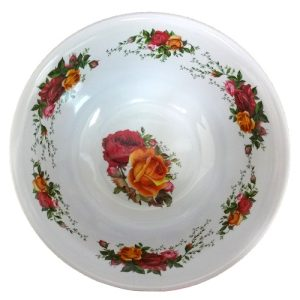 Melamine Bowl 8in Rose Design