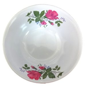 Melamine Bowl 8in Red Flower