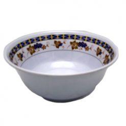 Melamine Bowl 8in Grape Design