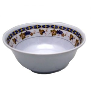 Melamine Bowl 8in Grape Design