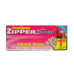 G.S Zipper Seal  50ct Snack Bags