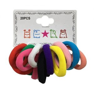 Hair Elastic Bands 20pc Asst Clrs