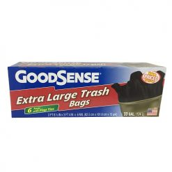 G.S X-Tra Lg Trash Bags 6ct 33 Gl W-Flap