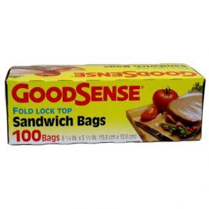 G.S Sandwich Bags 100ct Fold Lock
