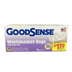 G.S Wastebasket Bags 18ct 8 Gl Spring Sc