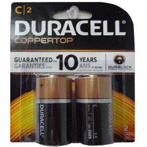 Duracell Coppertop C 2pk