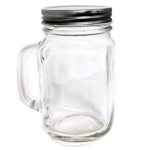 ***Glass Mug  W-Stainless Steel Lid