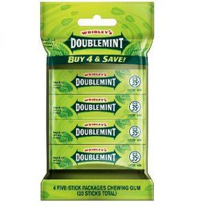 Wrigleys 4pk DOUBLEMINT Gum 5pc
