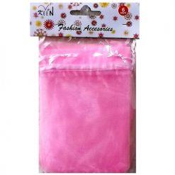 Nylon W-Ribbon 6pc Pink