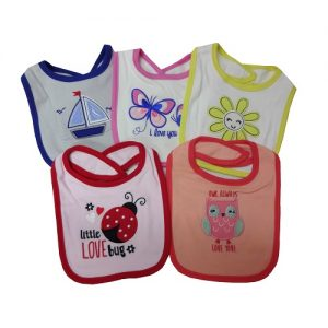 Baby Bibs W-Embroidery Asst