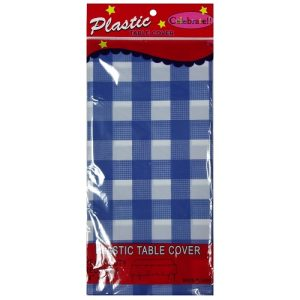 Table Cover Checkered Blue 54X108in