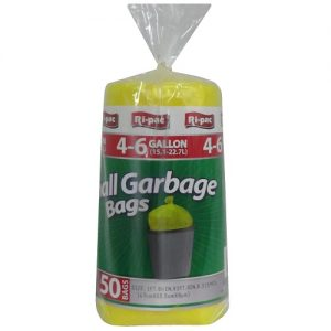 Ri-Pac Small Garbage Bags 4-6gl 50ct