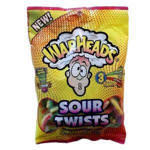 Warheads Sour Twists 4oz 3 Flvrs