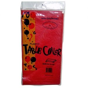 *Table Covers 54X108 RED Plstc
