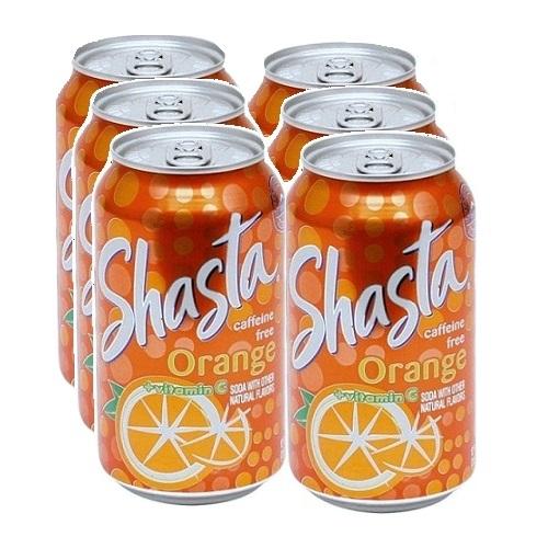 Shasta Soda 12oz Orange 4pk Can