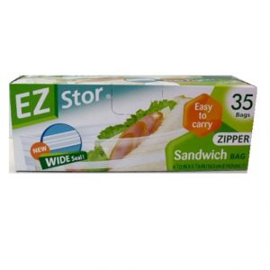 EZ Stor Sandwich Bags 35ct Sel Tight