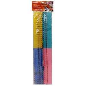Cloth Pegs 72pc Asst Clrs
