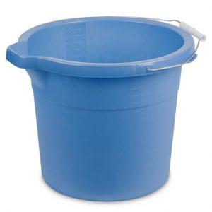 Sterilite Spout Pail 18qt Blue Aqua