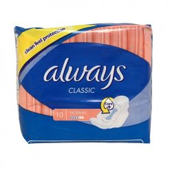 Always Classic Maxi Pads 10ct Normal