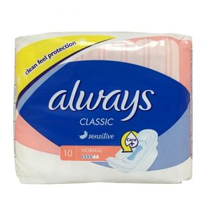Always Classic Maxi Pads 10ct Sensitive