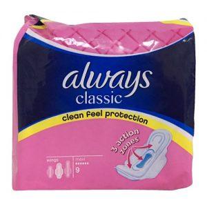 Always Classic Maxi Pads 9ct