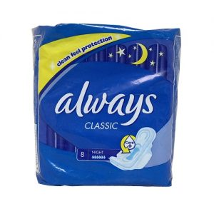 Always Classic Maxi Pads 8ct Night