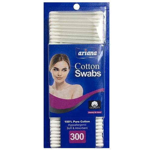Ariana Cotton Swabs 300ct Plstc Stick