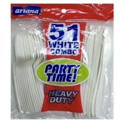 Ariana PP White Cutlery Combo 51ct