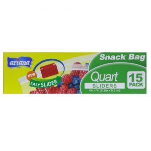 Ariana Snack Bag 1 Quart Sliders 15ct
