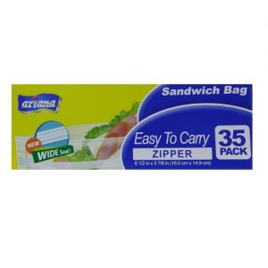 Ariana Sandwich Bag Wide Seal Zipper 35c